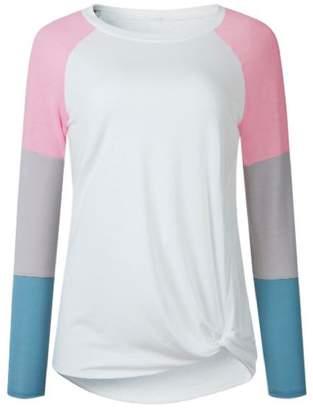 Goodnight Macaroon 'Gracie' Multi-Color Block Long Sleeve Baseball T-Shirt (3 Colors)