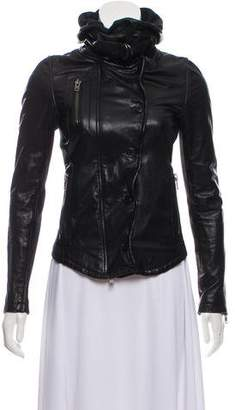 Nicholas Hooded Leather Jacket