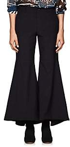 Comme des Garcons Women's Worsted Wool Flared Trousers - Navy