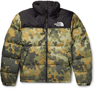 587e52632fa5 The North Face 1996 Retro Nuptse Quilted Camouflage-Print Shell Down Jacket