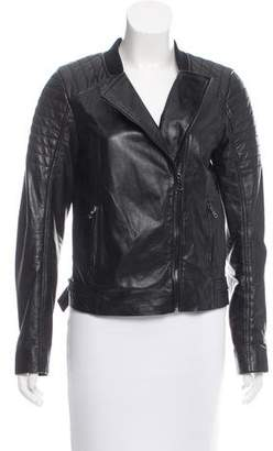 Trina Turk Leather Zip-Up Jacket