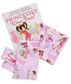 Books To Bed Little Girl's& Girl's Princesses Wear Pants Pajamas and Book Set