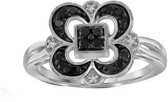 Black Diamond FINE JEWELRY 1/4 CT. T.W. White & Color-Enhanced Sterling Silver Ring