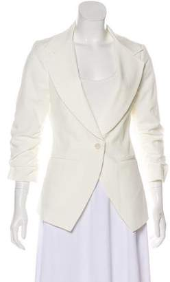 Elizabeth and James Notch-Lapel Ruched Blazer