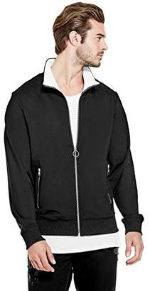 GUESS Men's Long Sleeve Keith Tiger Track Jacket