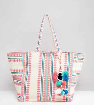 Accessorize Bondi geometric beach tote bag