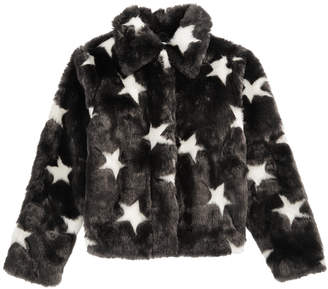 Epic Threads Big Girls Faux Fur Star Jacket