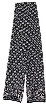 Paul & Joe Wool Pattern Knit Scarf