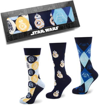 Cufflinks Inc. Cufflinks, Inc. 'Star Wars' Icons 3-Pack Socks