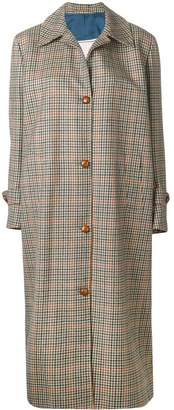 Giuliva Heritage Collection checked button coat