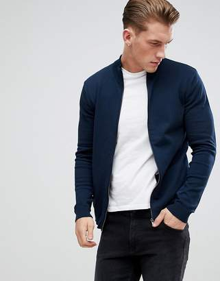 ONLY & SONS Knitted Zip Through Cardigan