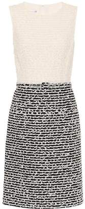 Oscar de la Renta Wool and cotton-blend shift dress