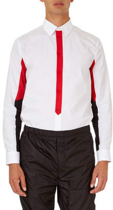 Givenchy Colorblock Poplin Shirt