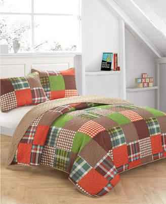 Idea Nuova Plaid Patchwork Quilt Set - Twin Bedding