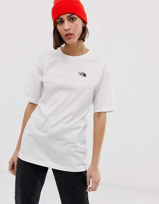 The North Face Raglan t-shirt in white