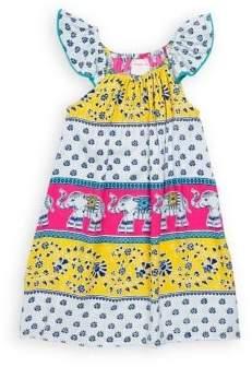 Little Girl's & Girl's Flutter Cotton Dress