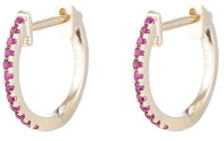 Ariel Gordon Ruby Pavé Huggies Earring