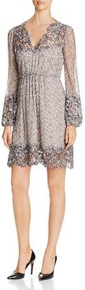 Elie Tahari Tally Lace Trim Silk Dress $498 thestylecure.com