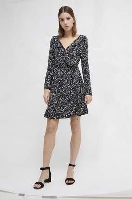 French Connection Aubi Meadow Jersey Floral Wrap Dress