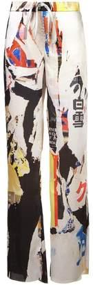 Marques Almeida Marques'almeida printed wide leg trousers