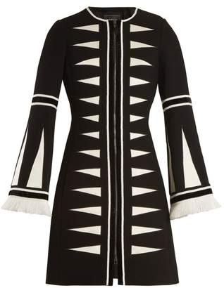Andrew Gn Geometric-appliqué wool-blend coat