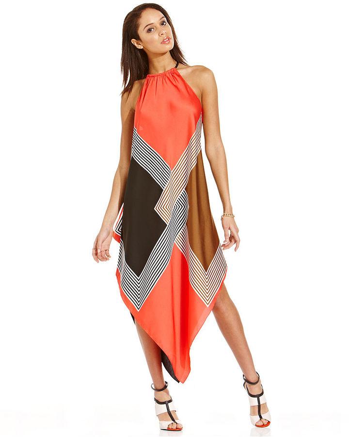 Rachel Roy Scarf-Print Dress