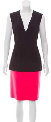 Cédric Charlier Sheath Colorblock Dress