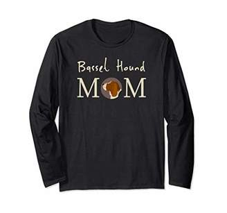 Womens Basset Hound Mom Cute Dog Lover Long Sleeve T Shirt