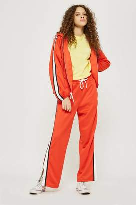 Topshop TALL Orange Popper Track Pants
