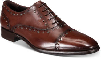 Roberto Cavalli Men Cap-Toe Studded Oxfords Men Shoes