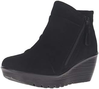 Skechers Women's Parallel-Triple Threat Ankle Bootie $80 thestylecure.com