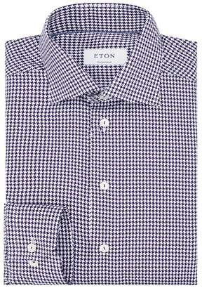 Eton Contemporary Fit Houndstooth Shirt
