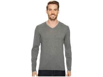 Agave Denim Fin Long Sleeve V-Neck 14GG Sweater Men's Long Sleeve Pullover