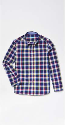J.Mclaughlin Boys' Carnegie Shirt in Big Check