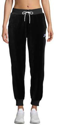 Nike Velour Drawstring Track Pants, Black