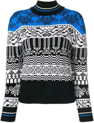 Sportmax Code intarsia striped jumper