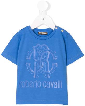 Roberto Cavalli logo print top