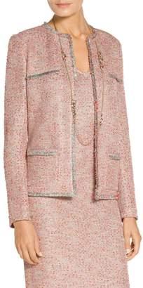 St. John Metallic Multi Eyelash Knit Jacket