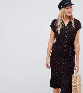 New Look Tall stripe shirt dress in black pattern