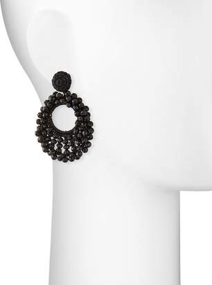 Capri Colette Sienna Beaded Hoop Drop Earrings