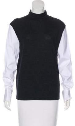 Brunello Cucinelli Wool Colorblock Top