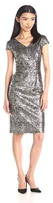 Betsey Johnson Women's Textured Knit Dress With Foil Print