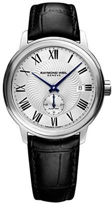Raymond Weil Men's Maestro Stainless Steel Swiss-Automatic Watch with Leather Calfskin Strap