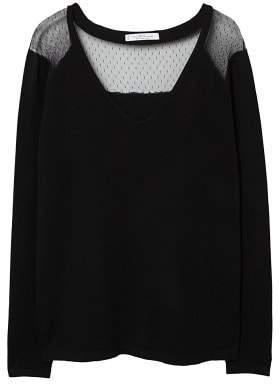 Violeta BY MANGO Lace panel sweater