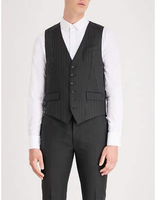 Alexander McQueen Pinstriped wool-blend waistcoat