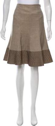 Akris Punto Wool Flounce Skirt
