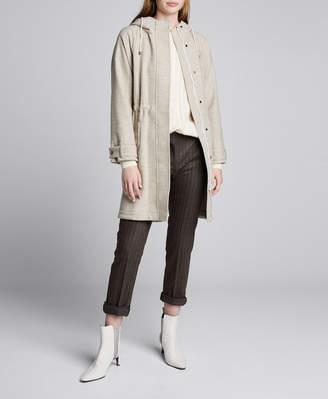 Brunello Cucinelli Wool-Cashmere Hooded Coat