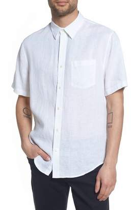 Vince Classic Fit Washed Short Sleeve Sport Shirt