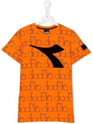 Diadora Junior TEEN monogram logo printed T-shirt