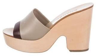 Chanel Platform Slide Sandals